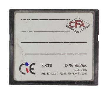 SANDISK CompactFlash 2MB CF Memory Card SDCFB-2MB EMKSC02MB W/Case