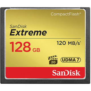 Ideal for use with mid-range to high-end DSLR cameras and HD camcorders, the SanDisk Extreme CompactFlash Memory Card delivers first-rate read/write speeds to catch fast action shots and enable quick file transfers. This memory card features Video Performance Guarantee (VPG-20) to deliver a minimum sustained recording data rate of 20MB/s to support high-quality Full HD video (1080p) recording. Take advantage of burst-mode photography with the card's write speeds of up to 60MB/s (400X) and enjoy efficient workflow with its transfer speeds up to 120MB/s (16GB - 128GB cards only). With capacities up to 128GB, this memory card provides plenty of storage for Full HD videos and RAW photos. Key Features : ¨ Compatible with all digital cameras, handheld PCs, digital audio players, and other devices that feature a CompactFlash slot ¨ Up to 60MB/s write speed for premium shot-to-shot performance, VPG-20 enabled for sustained 20MB/s video recording rate ¨ UDMA 7 enabled (works in all UDMA modes) ¨ Unfazed by drastic weather conditions ranging from blistering heat to arctic cold Package includes : 1x Sandisk Extreme CF Memory Card Shipping Policy