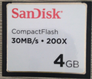 SanDisk 4GB 30MB/S 200X Speed CompactFlash CF Card SDCFH-004GB Brand New W/Case