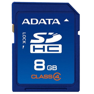 NOTICE:The item(s) are NOT coming with retail packing, But 100% Genuine & Brand New. As the demand for digital device storages continuously grows, the widely used SD memory card has evolved into the SDHC (Secure Digital High Capacity), including a new interface that enables faster transfer rates and a higher memory capacity. The ADATA SDHC Class 4 supports all consumer digital devices that are in conformation with SDHC specifications, including digital cameras, DV cameras and camcorders, PDAs, multimedia players, PCs, printers, card readers and more. You CAN have your cake and eat it, too! The ADATA SDHC Class 4 is manufactured in accordance with the SD Card Association's SD 2.0 standards, making it compatible with all SDHC host digital products. Adopting the FAT32 file system format, the ADATA SDHC Class 4 unlocks the 2GB capacity limit of traditional SD cards and provides a minimum transfer rate of 4 MB/s, meeting Class 4 specifications and taking care of your needs for memory card storage and the best read/write speeds. More Secure, More Reliable, More Data With a maximum storage capacity of 8GB, the ADATA SDHC Class 4can hold more than 2,000 MP3 files, 2,400 high-resolution JPEG photos or other digital data1. It also supports Error Correcting Code (ECC), which automatically detects and corrects errors during data transfer, preventing corruption and loss of your important data. Additionally, the SDHC's In-System Programming (ISP) feature allows users to load the latest firmware and improve compatibility. The built-in write-protection switch keeps your data even safer, preventing accidental over-writing and file deletion. Lifetime Warranty, Quality Guaranteed ADATA is committed to quality and your peace of mind. Therefore, every ADATA SD card is manufactured under stringent guidelines to ensure the highest in quality and backed by a lifetime limited warranty.