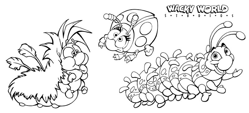 Baby Bugs Coloring Page