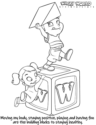Building Blocks Coloring Page