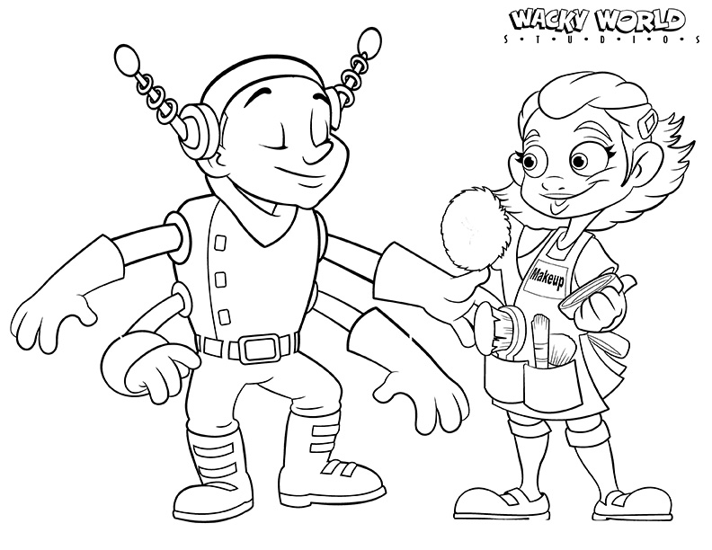 Space Backlot Studios Coloring Page