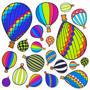 Hot Air Balloon Wainscot: Coordinating Jumbo Sticker Decals