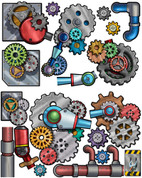Industrial Gears Peel-n-Stick Pack