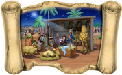 Nativity - Bible Scroll (Available With or Without Angels)