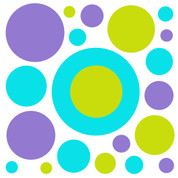 Cool Circles Pattern Coordinating Decals