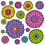 Gerbera Pattern #1 Coordinating Decals