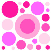 Pink Circles Jumbo Decals