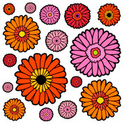 Gerbera Pattern #2 Coordinating Decals