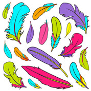 Feathers Pattern (Small) Coordinating Decals