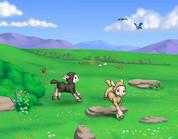 Backdrop: Little Lambs #2