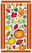 Autumn Wall Art by Vivi's Boutique.  Sheet size measures 6.5' x 4'.
