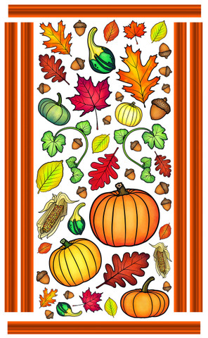 Autumn Wall Art by Vivi's Boutique.  Sheet size measures 6.5' x 4'.