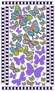 Butterfly Wall Art by Vivi's Boutique.  Sheet size measures 6.5' x 4'.
