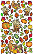 Vivi's Boutique Autumn Harvest Wall Art Decals.  Sheet size measures 6.5' x 4'.