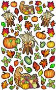 Vivi's Boutique Autumn Harvest Wall Art Decals.  Sheet size measures 6.5' x 4'.