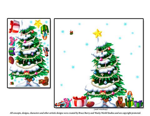 Christmas Tree Peel'N'Stick