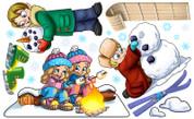 Snow Day Peel'N'Stick
