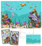 Cartoon Undersea Mural Kit