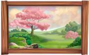 Framed Fantasy Forest (Pink Tree) Scene