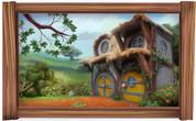 Framed Hobbit Home Scene