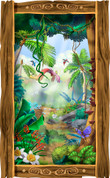 Framed Jungle Scene (Vertical)