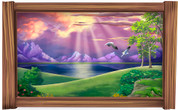 Framed Fantasy (Purple Sunset) Scene
