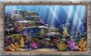Framed Undersea Realistic Coral Reef