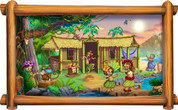 Framed Around the World Scene: Polynesian (Choice of Frame and Cropping)