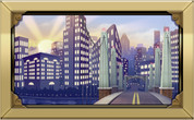 Framed Big City Skyline