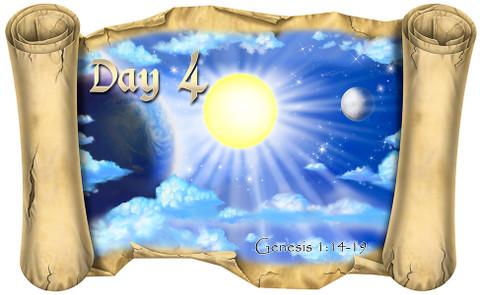 Creation Story Day 4 (Version 2) - Bible Scroll - Wacky ...