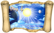 Creation Story Day 4 (Version 2) - Bible Scroll