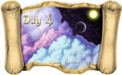 Creation Story Day 4 (Version 1) - Bible Scroll