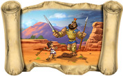 David and Goliath - Bible Scroll