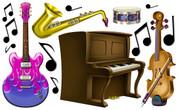 Musical Instruments Peel-n-Stick Pack