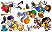 Sports Kids Peel-n-Stick Pack