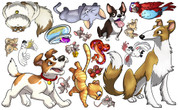Animal Set: Pets Peel-n-Stick Pack #2