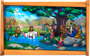 Framed Biblical Scene: Jesus' Baptism (Two Options)