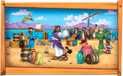 Framed Biblical Scene: Jesus Calls the Disciples