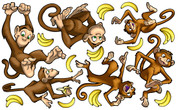 Animal Set: Monkeys Peel-n-Stick Pack