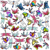 Bugs & Butterflies Set: Butterflies and Dragonflies Peel-n-Stick Pack