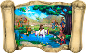 Jesus' Baptism - Bible Scroll
