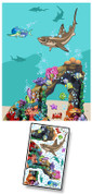 Cartoon Undersea Mural Kit Add-On #4