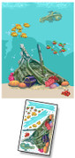 Cartoon Undersea Mural Kit Add-On #5