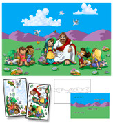 Jesus & the Children Mural Kit
