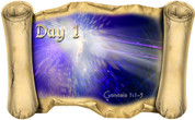Creation Story Day 1 - Bible Scroll