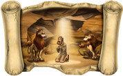 Daniel in the Lion's Den - Overstock Bible Scroll