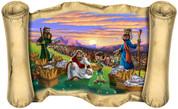 Jesus Feeds 5,000 (Version 2) - Bible Scroll