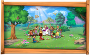 Framed Biblical Scene: Jesus and the Children (Choice of Frame)